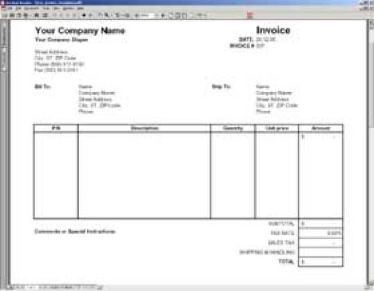Blank Invoice Templates Word Excel PDF Formats - Vendor invoice template