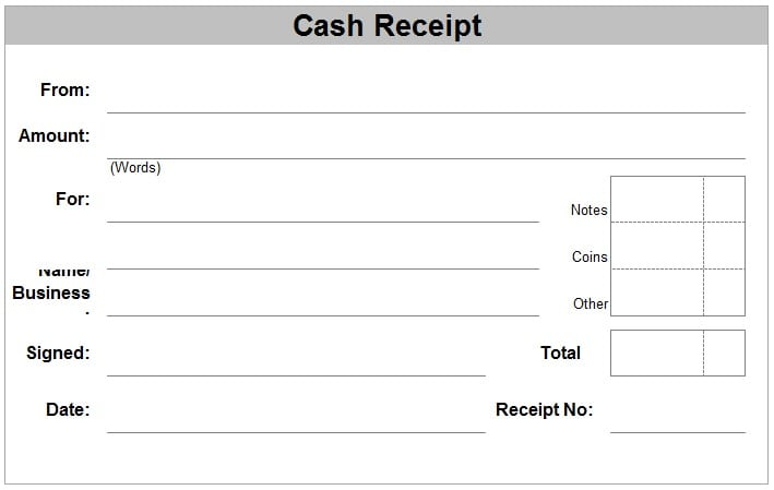 Wonderful Cash Receipt Template 1  Money Receipt Template
