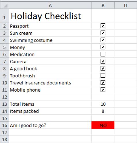 checklist template 5