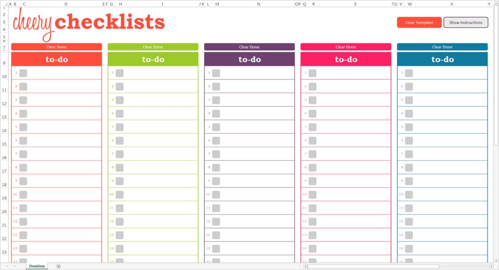 13+ Checklist Templates