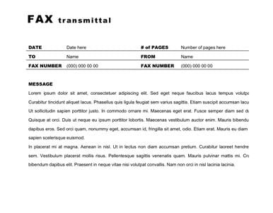 fax cover sheet template 3