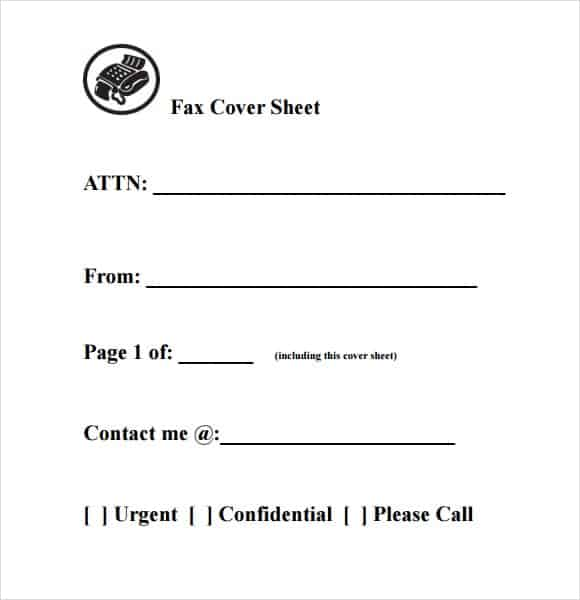 Fax Page Template fax cover page fax cover sheet template – Fax Cover Sheet Free Template