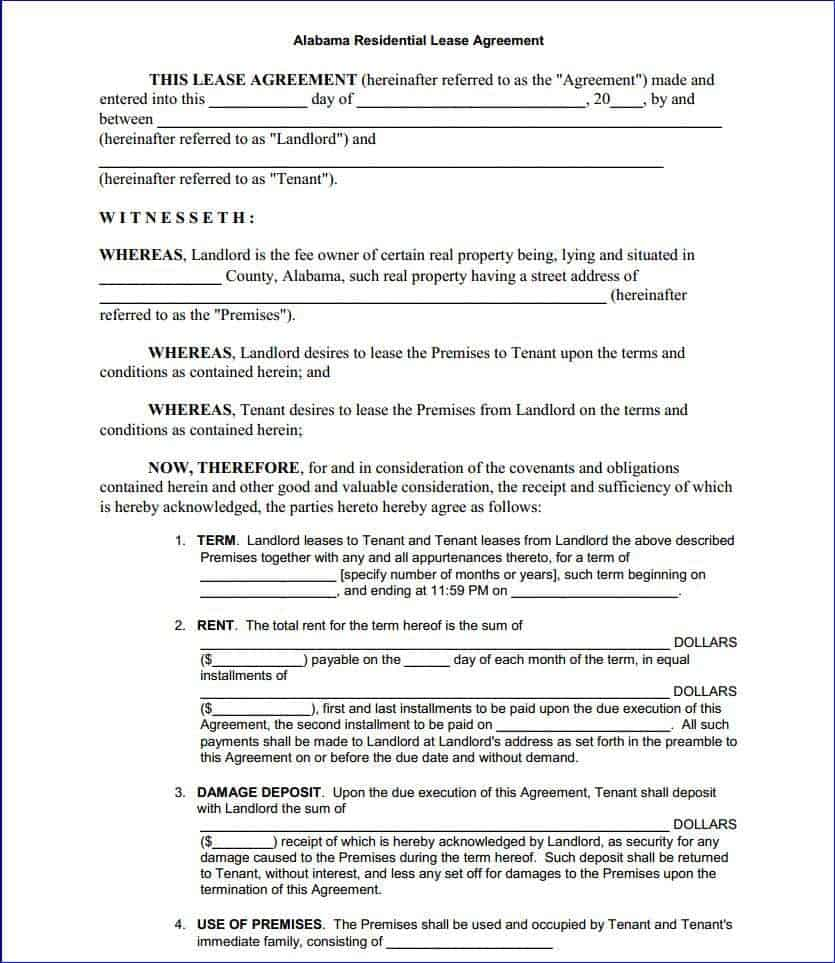 Lease Agreement Template 10