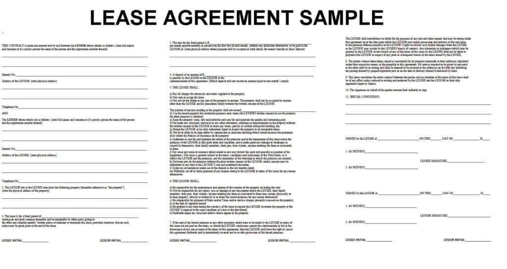 20+ Lease Agreement Templates