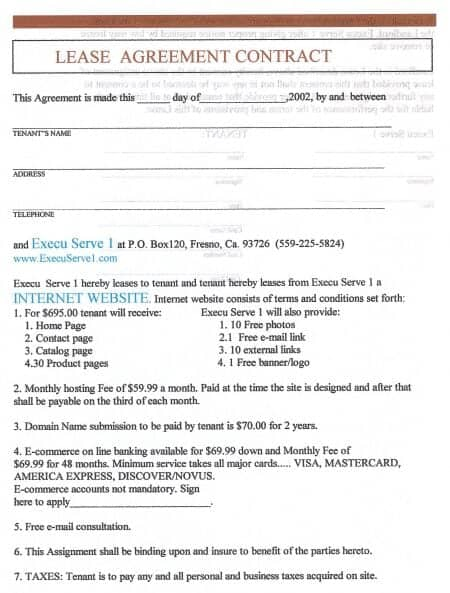Lease Agreement Contract. Details Sample Owner Operator Lease