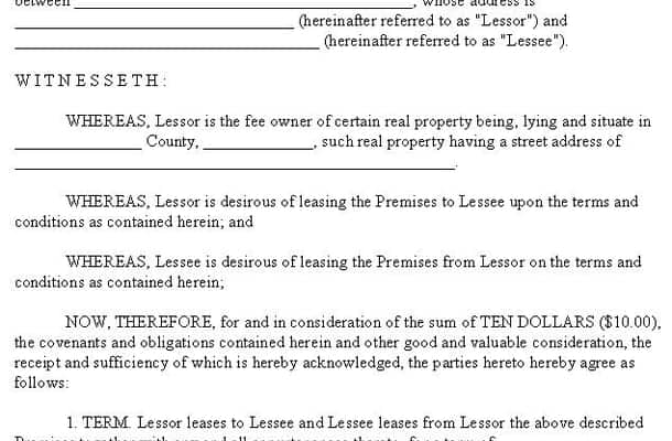 lease agreement template 19