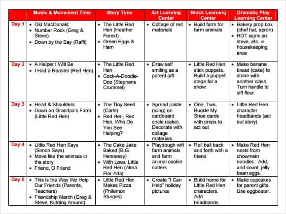 10 Lesson Plan Templates Word Excel Pdf Formats