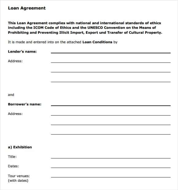 Loan Agreement Template 15  Contract Word Template