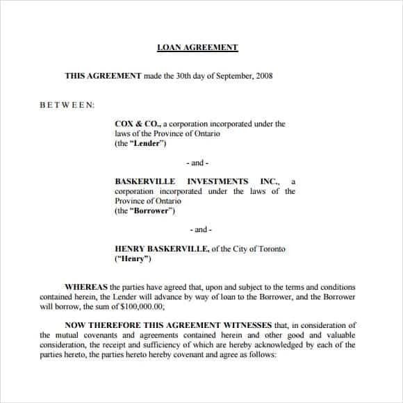loan agreement template 16