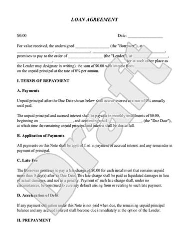 Loan Agreement Template 2