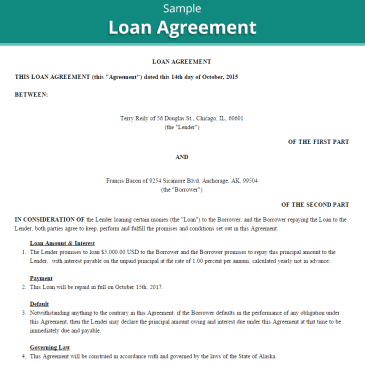Construction Loan Agreement Template Archives Word Templates