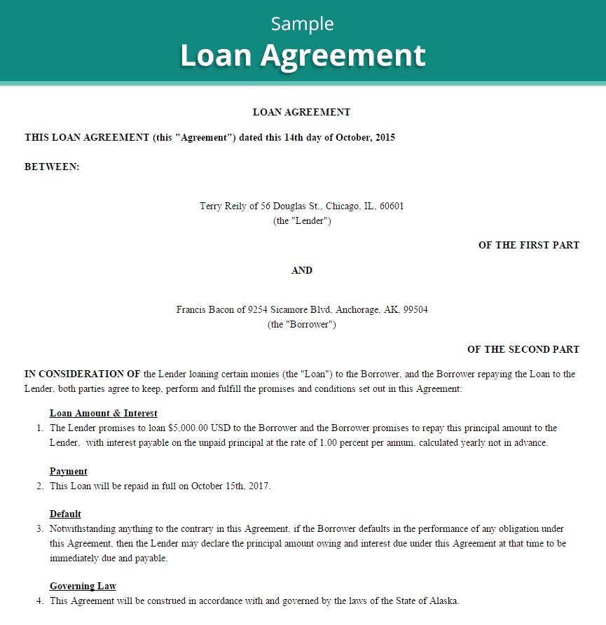 20+ Loan Agreement Templates - Word Excel PDF Formats