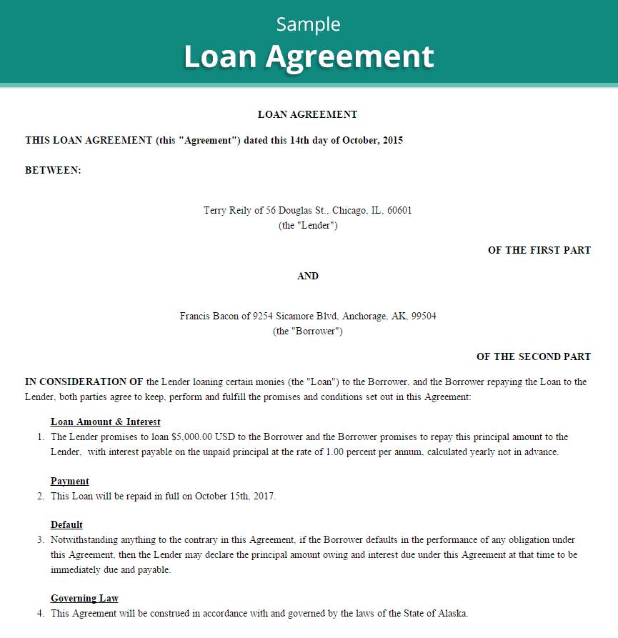 loan agreement template 4