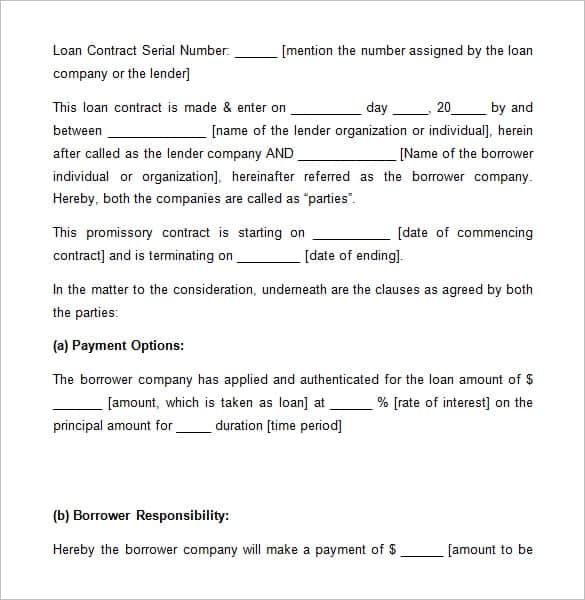 20+ Loan Agreement Templates   Word Excel Pdf Formats