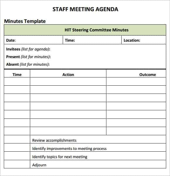 agenda sheets