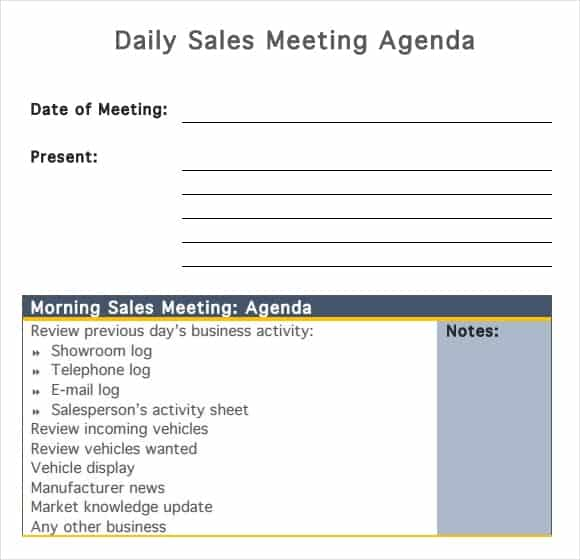 meeting agenda template 4