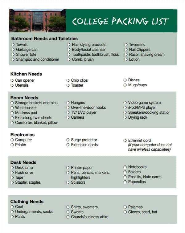 packing list template image 6