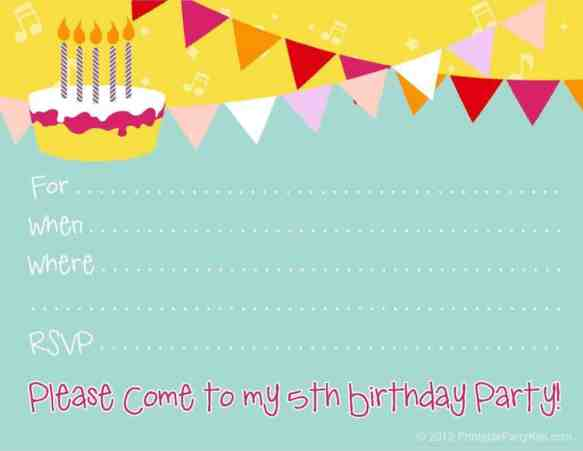 party invitation template 4