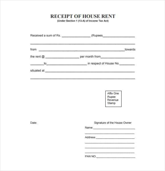 Rent Record Template