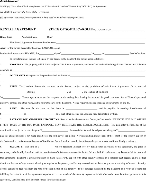 rental agreement template 14