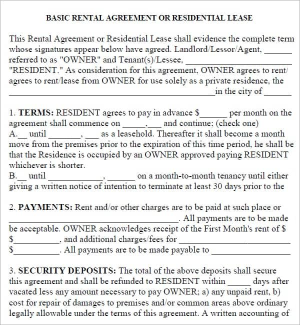 rental agreement template 17