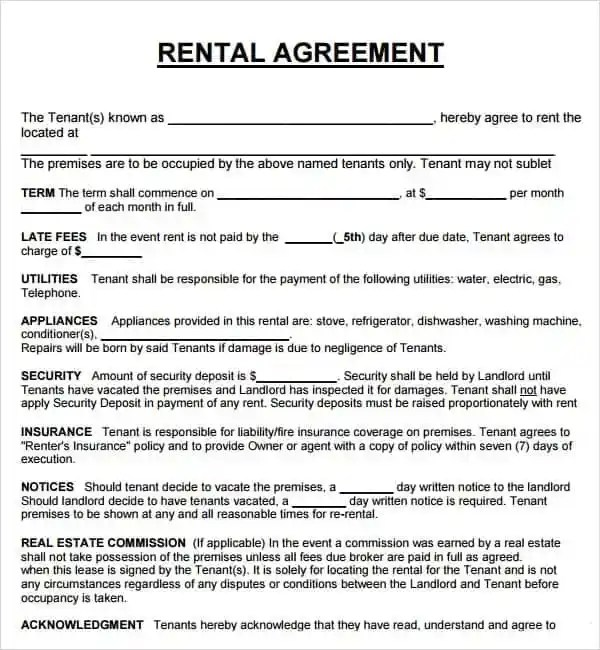 Pdf Car Rental Agreement Books And Docs World Library