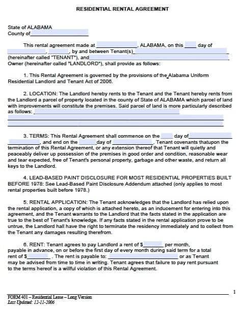 Samples Of Lease Agreement Rental Agreement Letter Free Sample