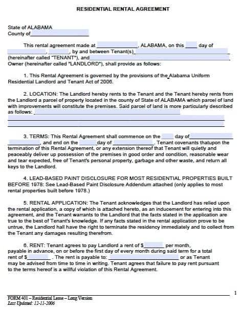 Delightful Rental Agreement Template 7 To Editable Rental Agreement