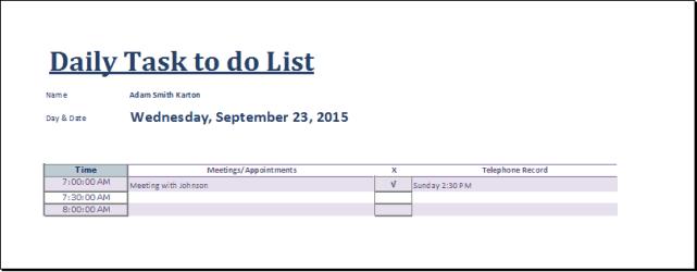 task list template 5