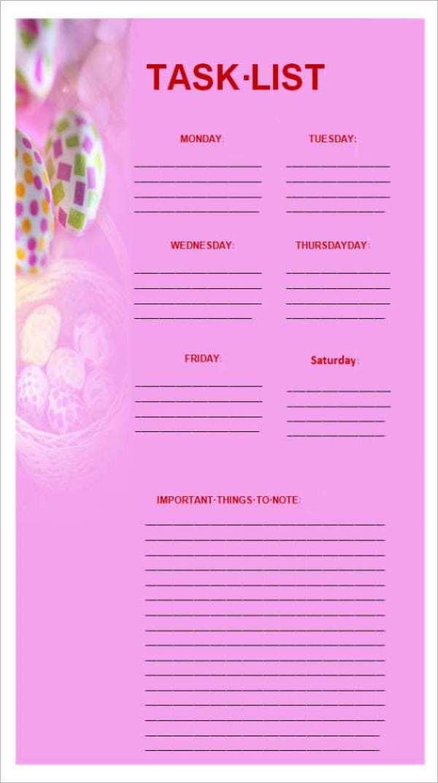 task list template 8