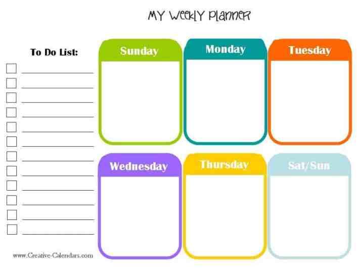 weekly planner template image 6