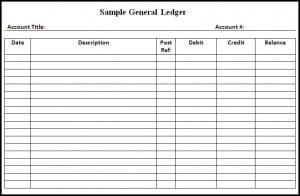 9+ General Ledger Templates - Word Excel PDF Formats