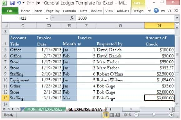 ledger templates free formats excel word