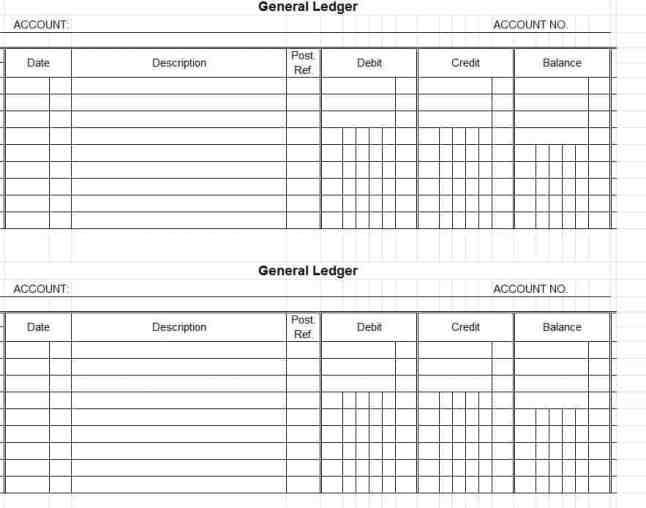 General Ledger Excel Template  BesikEightyCo
