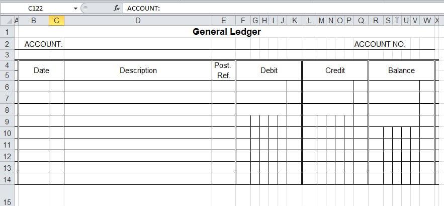 9 general ledger templates word excel pdf formats
