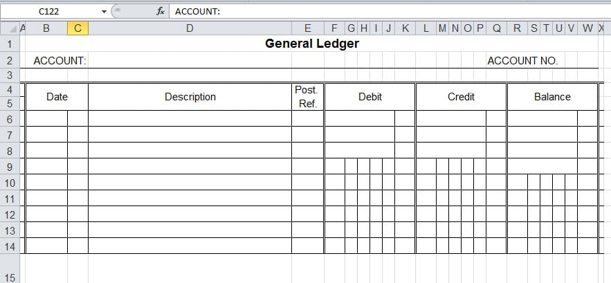 9+ General Ledger Templates Great Ideas