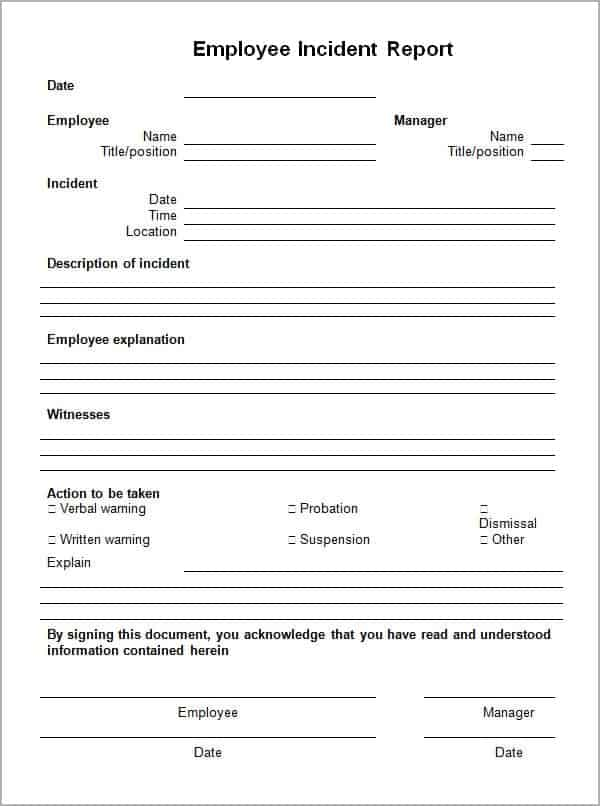 Wonderful Incident Report Template 85474  Incident Report Template Word Document