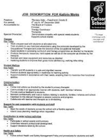 Job Description Templates  Word Excel Pdf Formats