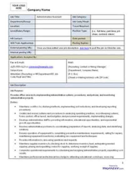 job description template 87451