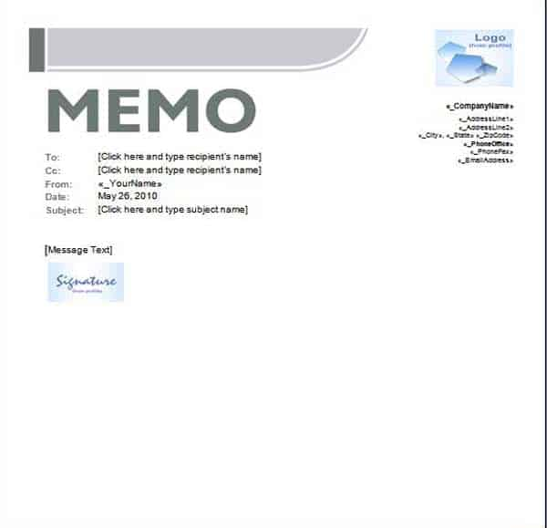 Professional Memo Template Archives  Word Templates