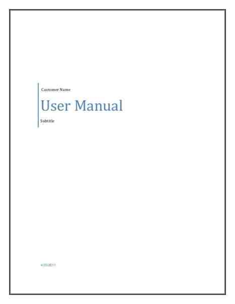 user manual template 1541