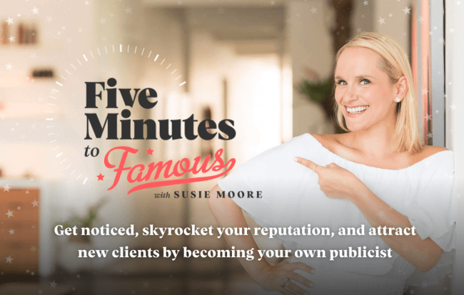 Read more about the article Susie Moore – Five Minutes to Famous