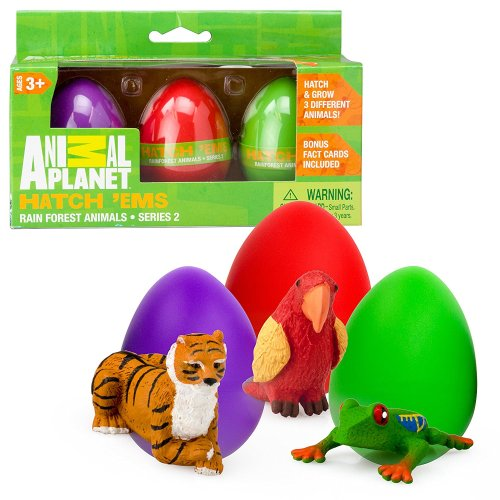 Animal Planet Hatch 'ems that will hatch and grow 3 different animals. This would be a fun addition to any Easter celebration.