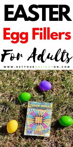 what to put in adult Easter eggs for fillers! Find several options of candy, prizes, and food! #eggs #crafts #adult #egghunts