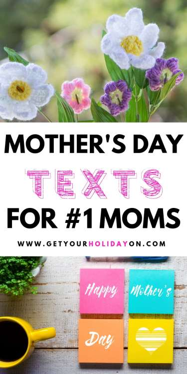 Wishing you a Happy Mother's Day text message ideas!