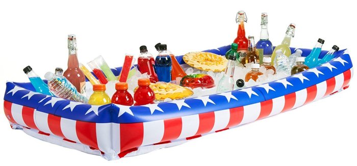 Patriotic Inflatable Buffet Cooler for Indoor/Outdoor perfect for the 4th of July Party Supply help guide!