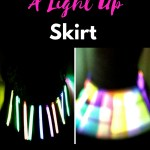 How To Make A Light Up Skirt is easier than you think! Glow in the dark fun that will capture the heart of your little girl.