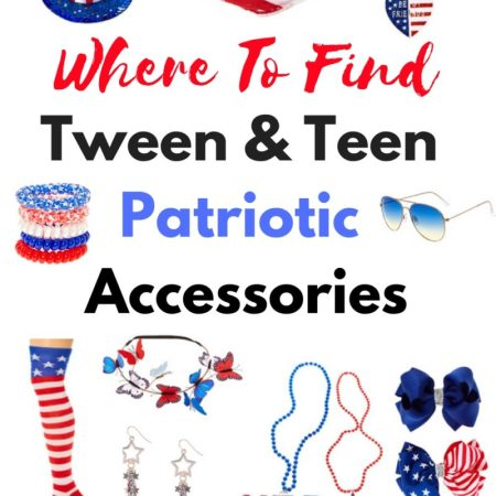 Tween and Teen Patriotic Accessories the perfect items to celebrate the 4th of July with.