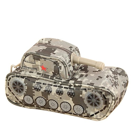 School Supplies with personality Camouflage Tank Car Pencil Case