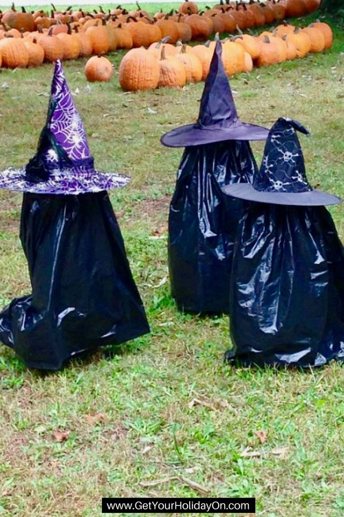 Wow! This Witch idea is so cool and SUPER easy to make! You only need 4 different items. If you love witch decor for Halloween this is the perch idea for a Halloween party, fall home decor, and easy and not so scary idea to use. I Will Get You My Pretty (Witch Trick)